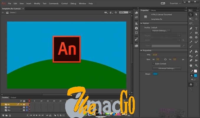 Adobe Animate CC 2019 for mac free download themacgo