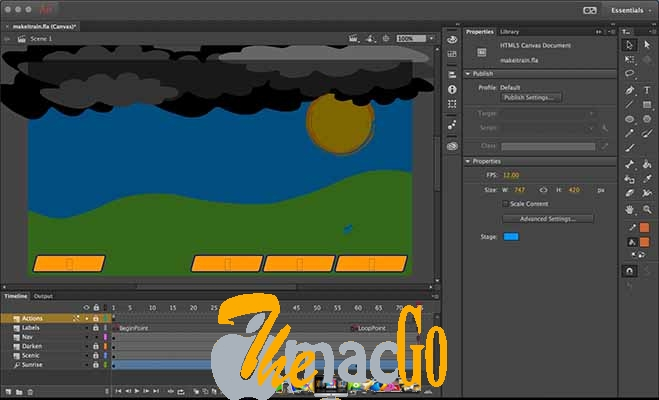 Adobe Animate CC 2019 mac dmg full version themacgo