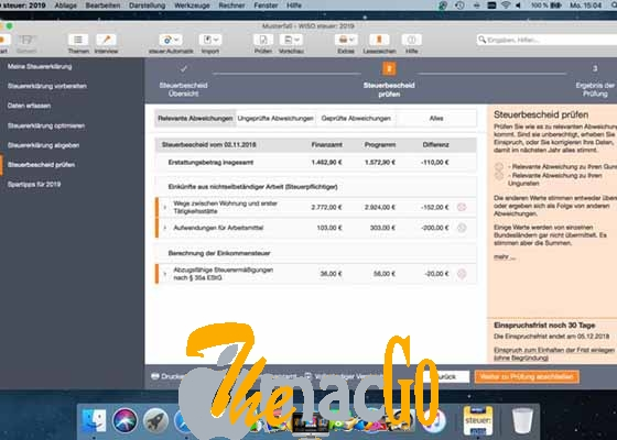 WISO steuer 2019 v9 for mac free download themacgo