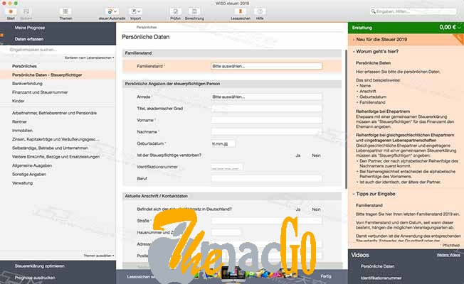 WISO steuer 2019 v9 mac dmg full version themacgo