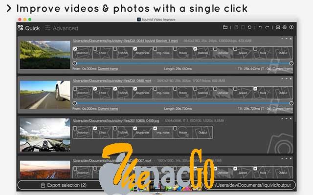 liquivid Video Improve 2 for mac free download themacgo