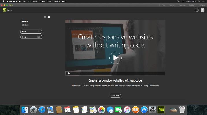 Adobe Muse CC 2017 mac dmg full version themacgo