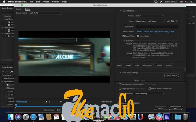 Adobe Media Encoder CC 2019 for mac free download themacgo