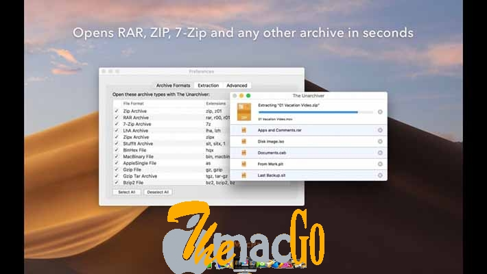 The Unarchiver 3 mac dmg full version themacgo