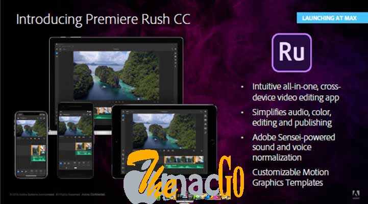 Adobe Premiere Rush CC 2019 for mac free download themacgo