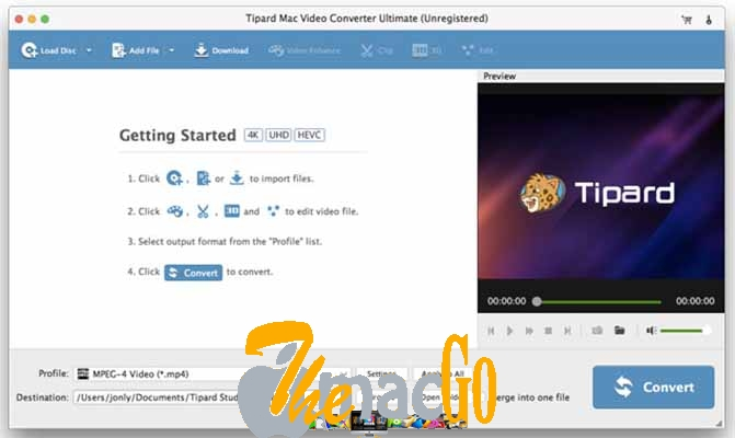 Tipard Mac Video Converter Ultimate 9_2 mac dmg full version themacgo