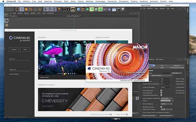 Maxon CINEMA 4D Studio R21_207 mac dmg full version themacgo