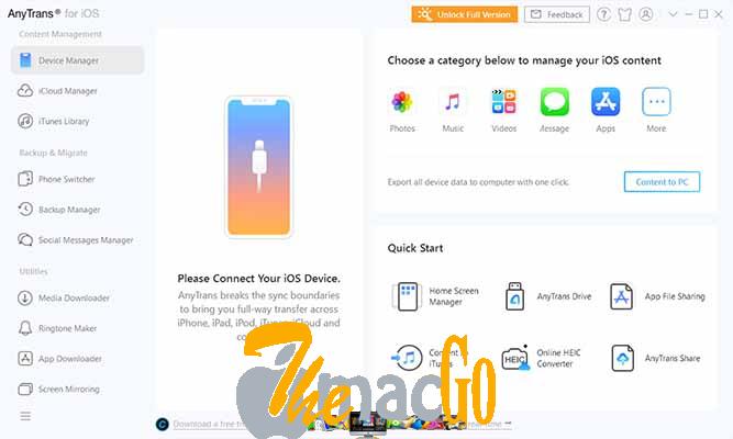 AnyTrans 2020 iOS mac dmg full version themacgo