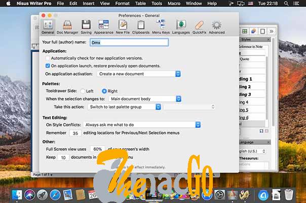 Nisus Writer Pro 3_2_1 mac dmg full version themacgo