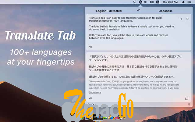 Translate Tab 2_0_16 for mac free download themacgo