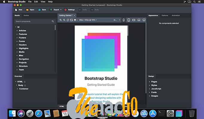 Bootstrap Studio 5_8_3 for mac free download themacgo
