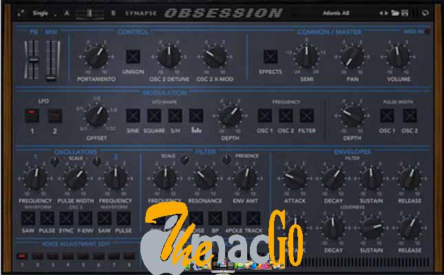 Synapse Audio Obsession v1_1_1 mac dmg full version themacgo